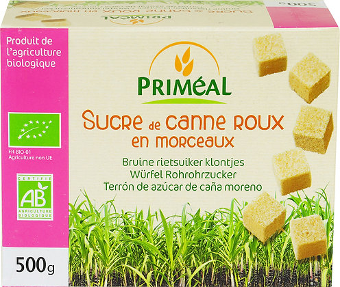 sucre de canne roux en MORCEAUX, 500 gr