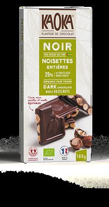CHOCOLAT AU LAIT 25% NOISETTES ENTIÈRES 180 gr