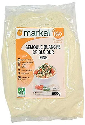 SEMOULE BLANCHE DE BLÉ DUR, 500 g