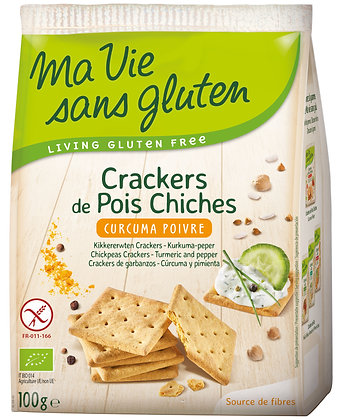 CRACKERS DE POIS CHICHES curcuma 100 gr
