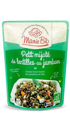 PETIT MIJOTÉ DE LENTILLES AU JAMBON 250 gr