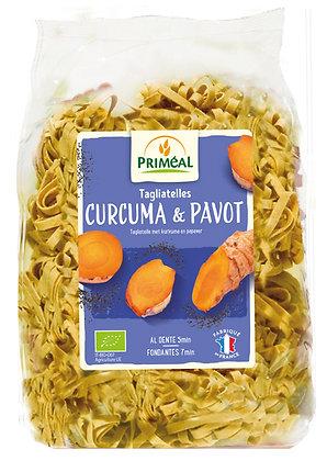 tagliatelles curcuma pavot, 250 gr