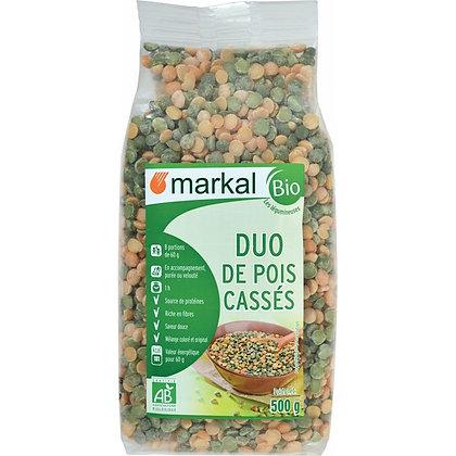 DUO DE POIS CASSÉS VERTS ET JAUNES, 500 g
