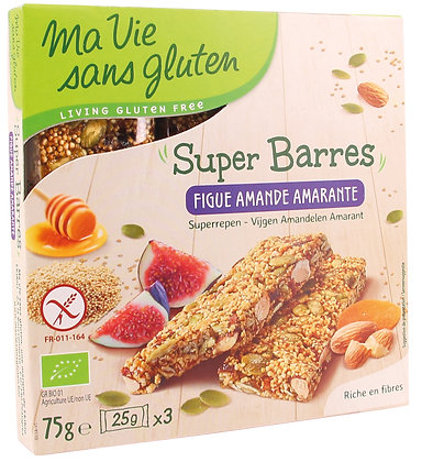 SUPER BARRES figue, amande, amarante 150 gr