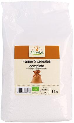 farine complète 5 céréales, 1 kg