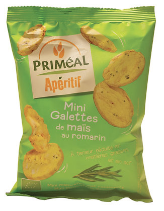 mini galettes de maïs au romarin, 50 gr