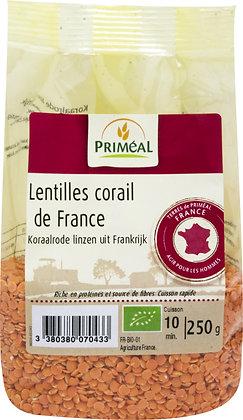 lentilles corail de France, 250 gr