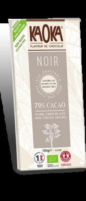 CHOCOLAT NOIR 70% GAMME DÉGUSTATION 100 gr