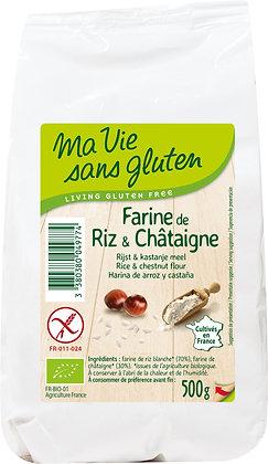 FARINE DE RIZ & CHÂTAIGNE 500 gr