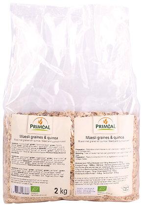müesli graines & quinoa, 2 kg