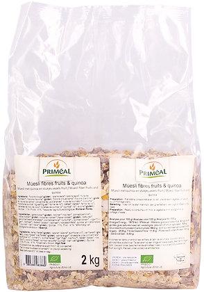 müesli fibres fruits & quinoa, 2 kg