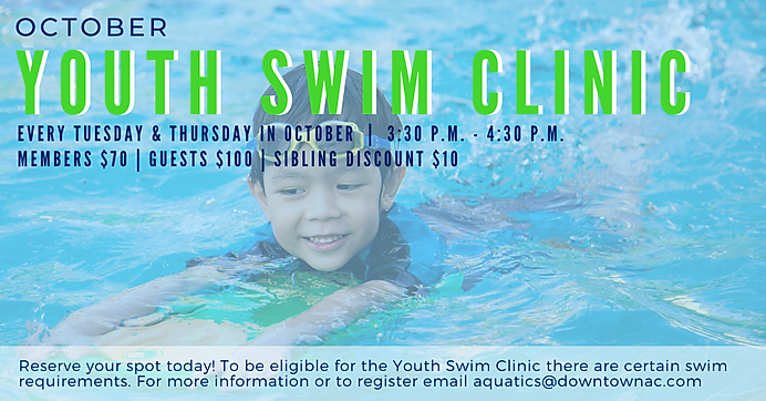 October Youth Swim Clinic Graphics for E