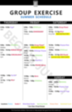Copy of Group X Schedule SUMMER 11 x 17