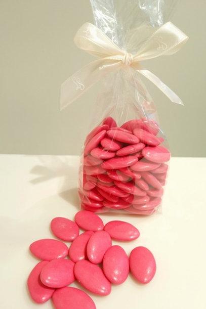 Dragée Chocolat 250 gr. Rouge cerise.