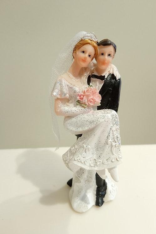 Couple de mariés bouquet de rose