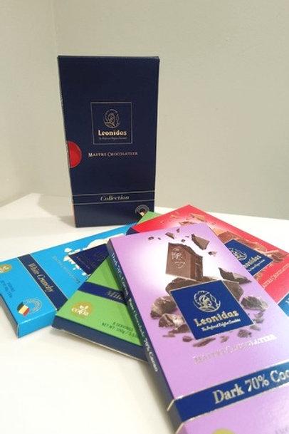 Coffret de 4 Tablettes de chocolat
