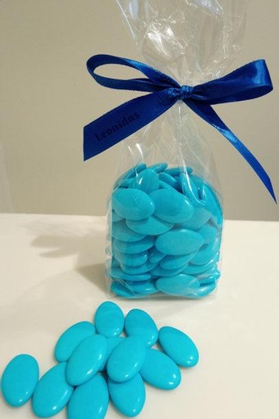 Dragée Chocolat 250 gr. Bleu turquoise.