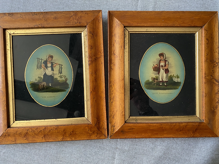 VICTORIAN OIL ON GLASS PICTURES