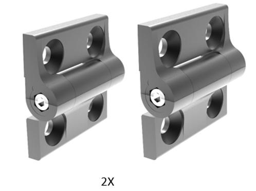Hinge for Infinite Position Hinge for Raise 3D N2+, Pro Printer Cover, 2 Hinges