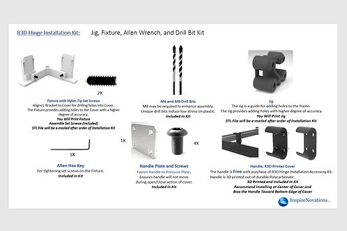 Raise 3D Accessory Installation Kit for the Raise 3D Infinite Position Hinge Kit