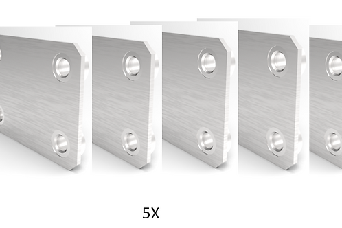 Mounting Plates for Infinite Position Hinge Sys. for Raise3D N2+ Pro Prntr Cover