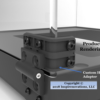 R3D Hinge Adapter Injection Molded Rendering