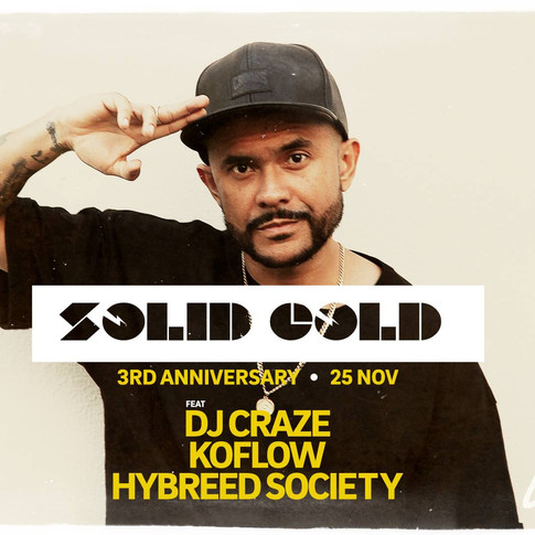 Collective Minds X Canvas Presents: Solid Gold 3rd Anniversary - DJ Craze