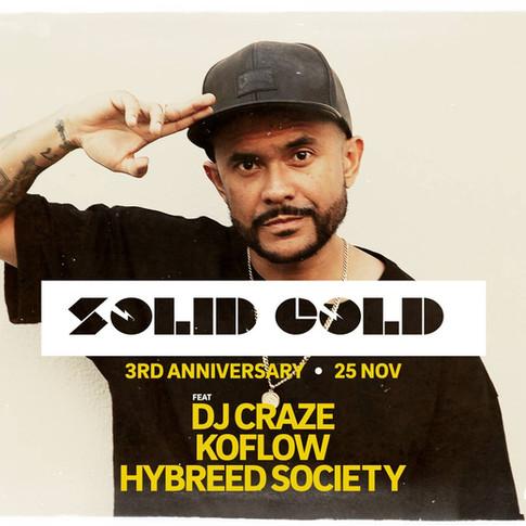 Collective Minds X Canvas Presents: Solid Gold 3rd Anniversary - DJ Craze