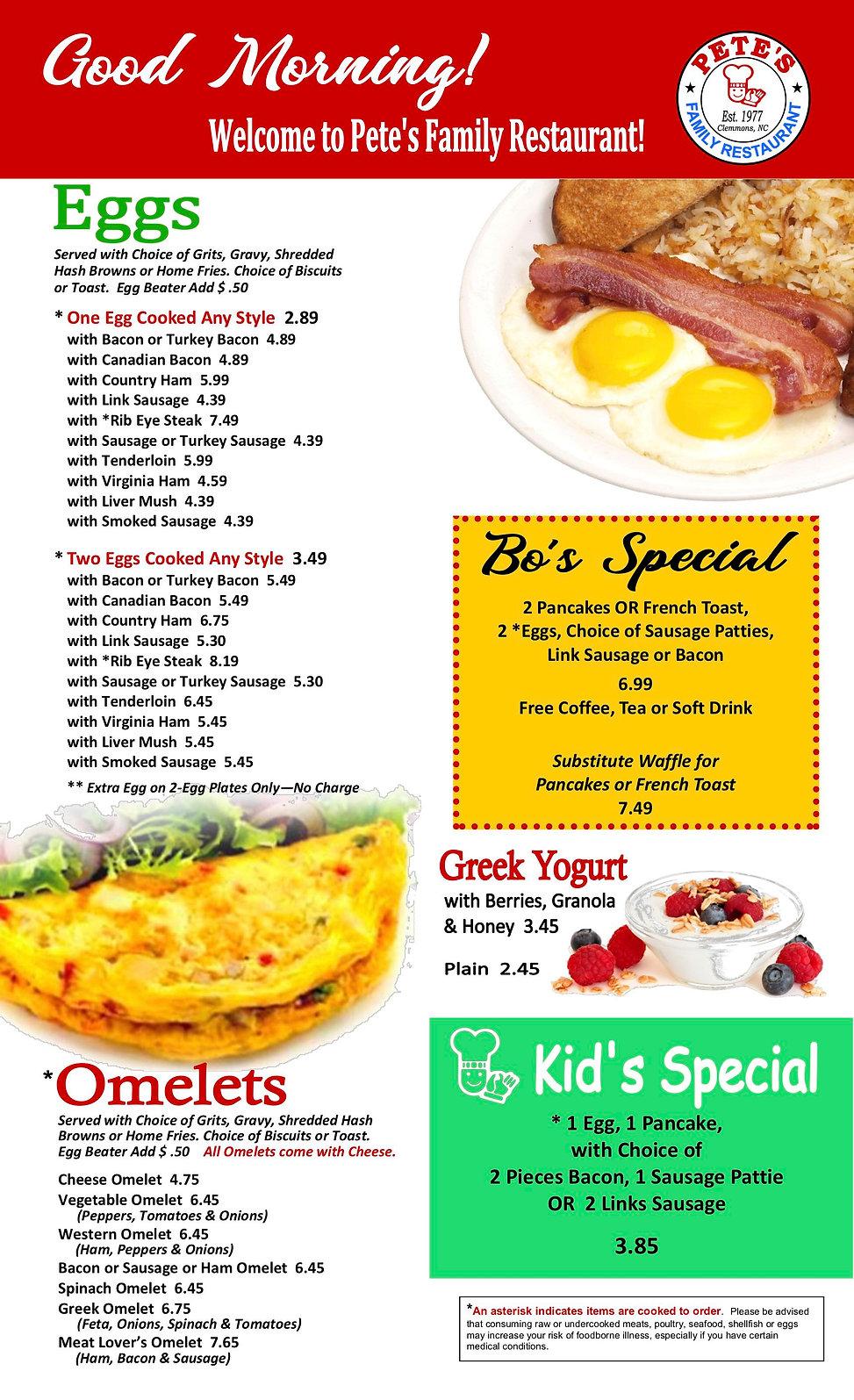 pete's breakfast menu revised 1JULY 2020