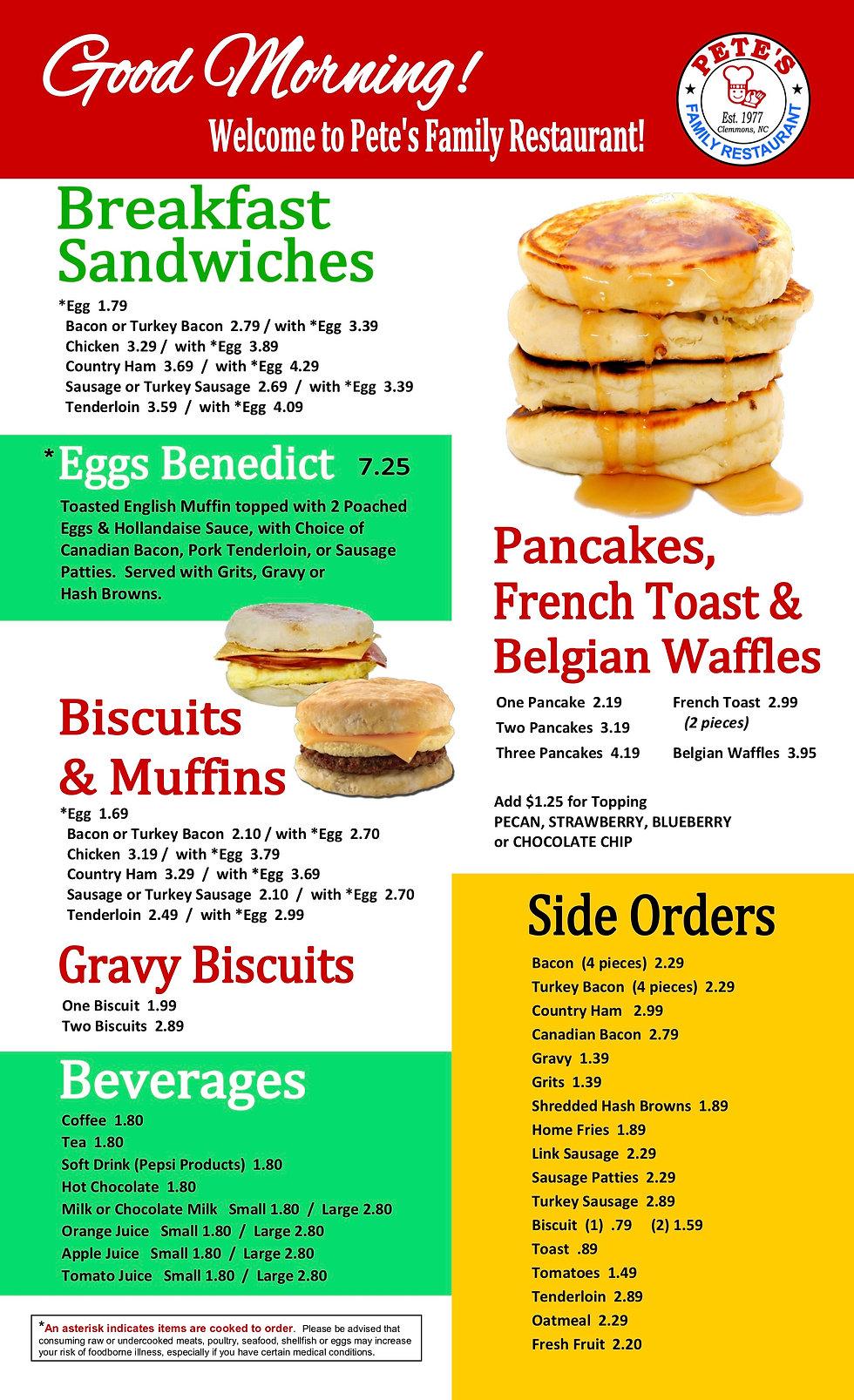 pete's breakfast menu revised JUNE  2019