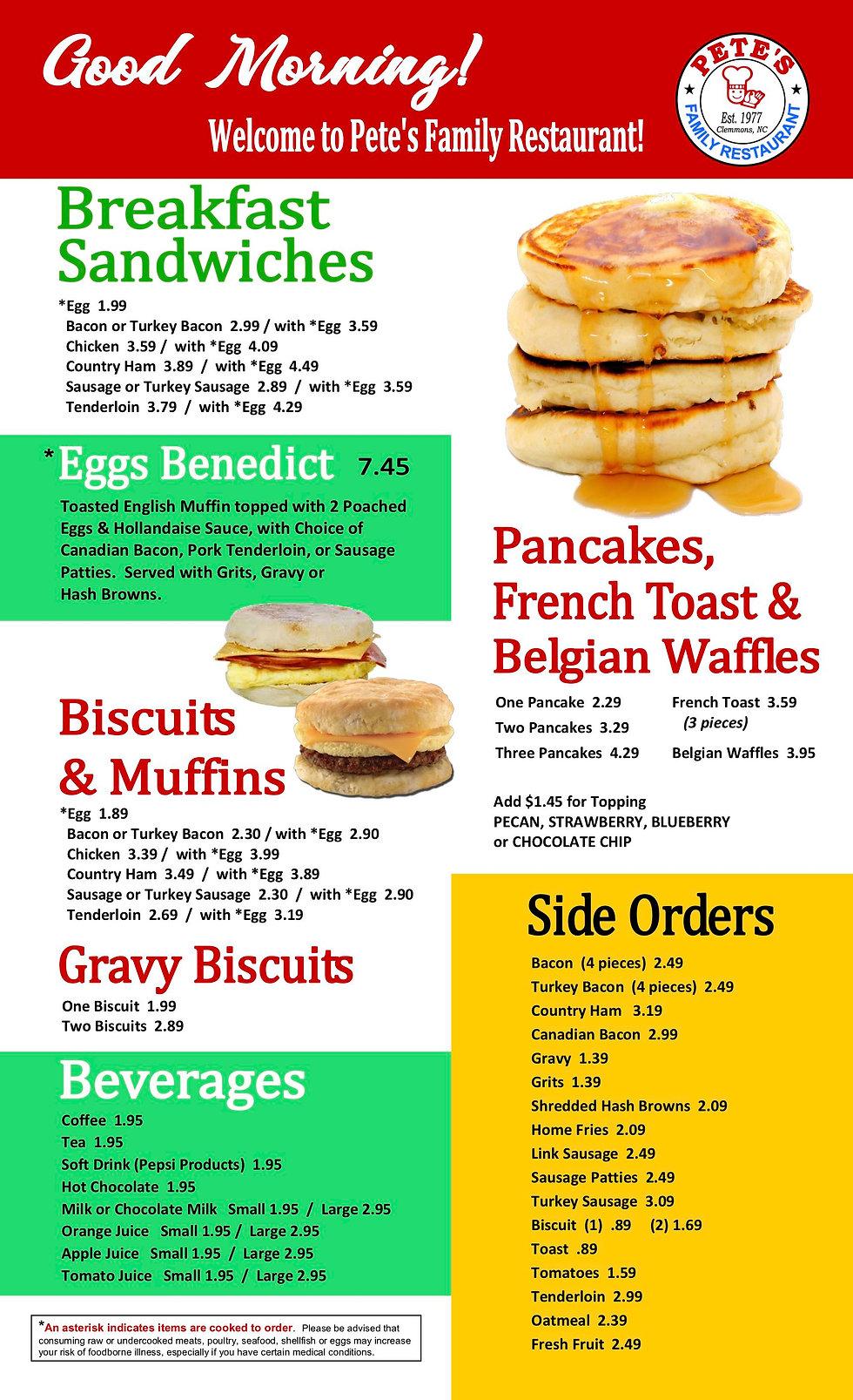 pete's breakfast menu 2revised JULY 2020