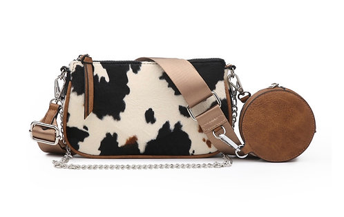 She Crossbody with Removeable Chain & Pouch