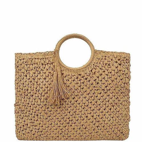 Smooth Woven Design Tassel Bag
