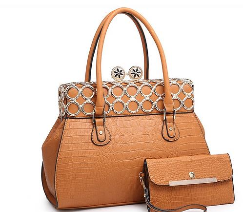 Structured Crocodile Fashion Handbag