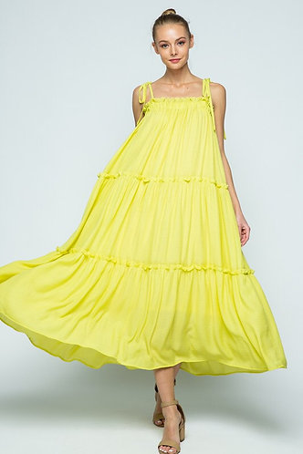 Flow & Free Ruffled Tiered Maxi