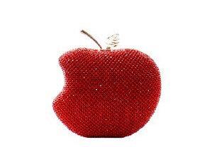Rhinestone Apple Clutch