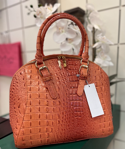 Fashion Faux Croc Leather Handbag