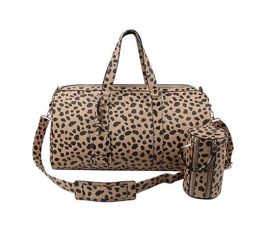 Fashion Faux Leopard Duffel Bag