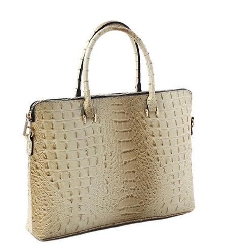 Fashion Faux Croc Briefcase Laptop Bag