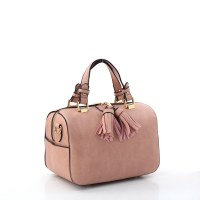 Fashion Faux Leather Handbag with Tassel
