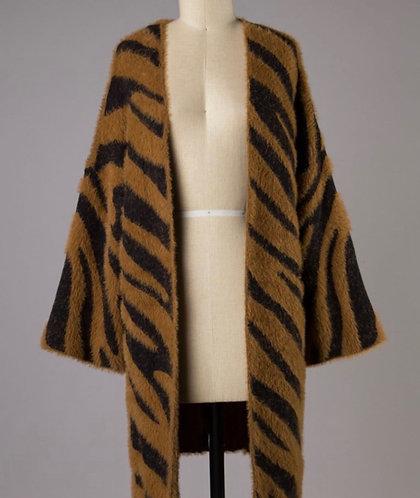 Zebra Bell Sleeve Cardigan