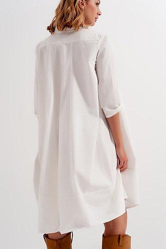 All In White Oversized Dress