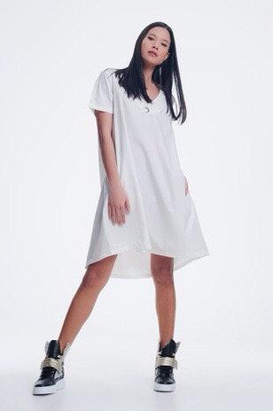 Poplin White Dress