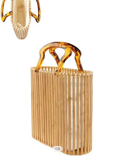 Wooden Bucket Shape Bag