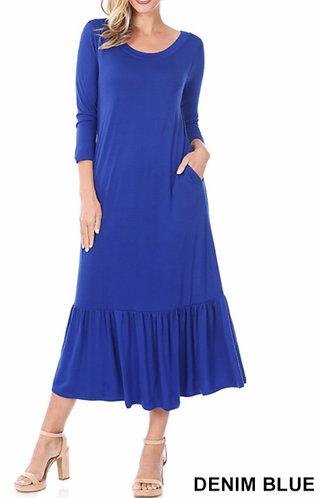 Ruffel Hem Maxi Dress