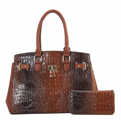 Padlock Crocodile Large Satchel