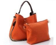 Fashion Faux Leather 2 in 1 Handbag