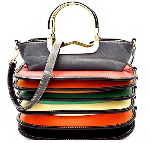 Multi Accordion Top Handle Satchel