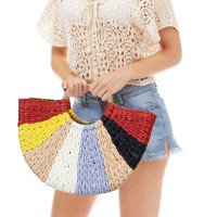 Multicolor Straw Tote Bag