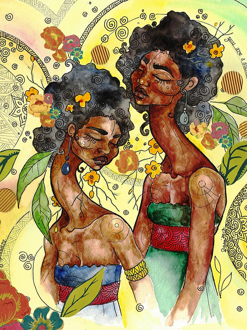 Fine Art Print: Among Flowers